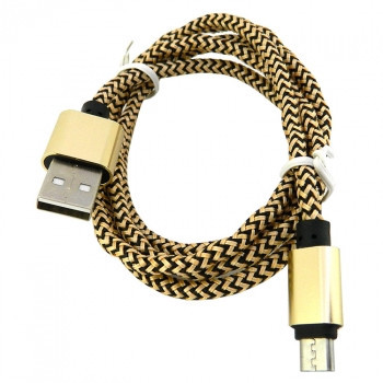 Дата кабель Walker C520 micro USB to USB 1 м Gold (hub_uEHq95782)