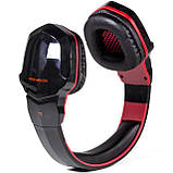 Бездротові Bluetooth-навушники Kotion Each B3505 з автономністю до 10 годин Чорно-червоний (hpkotb3505blre), фото 3