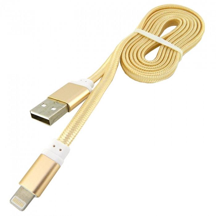 Дата кабель Walker C330 Apple Lightning to USB 1 м Gold (hub_pvJg54746)