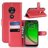Чохол-книжка Litchie Wallet для Motorola Moto G7 Power Red (hub_WZFV88062), фото 2