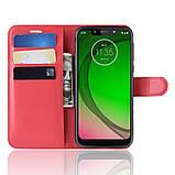 Чохол-книжка Litchie Wallet для Motorola Moto G7 Power Red (hub_WZFV88062), фото 3