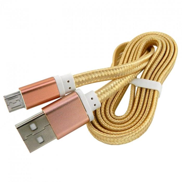 Дата кабель Walker C330 micro USB to USB 1 м Gold (hub_frUI13092)