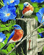 Картина по номерам Весенние гости KHO4090 40х50 см
