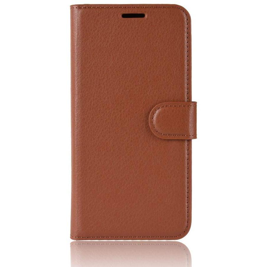 Чехол-книжка Litchie Wallet для Motorola One Macro / Moto G8 Play Brown (hub_LPMK54714)