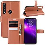 Чехол-книжка Litchie Wallet для Motorola One Macro / Moto G8 Play Brown (hub_LPMK54714), фото 2