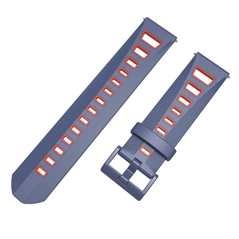 Ремешок BeColor силиконовый для Amazfit Stratos / Pace Cине-Красный (1021953.2)