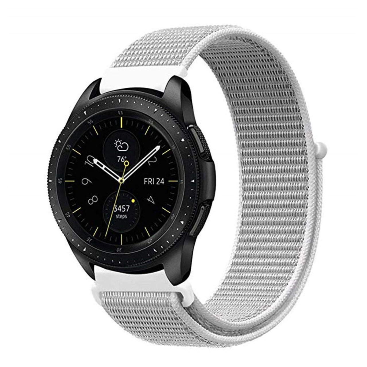 Ремешок BeWatch нейлоновый липучка для Samsung Galaxy Watch 42 мм Белый (1011311)