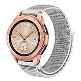 Ремешок BeWatch нейлоновый липучка для Samsung Galaxy Watch 42 мм Белый (1011311), фото 2