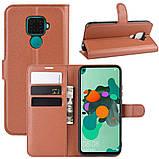 Чохол-книжка Litchie Wallet для Huawei Mate 30 Lite / Nova 5i Pro Brown (hub_tQsV10303), фото 2