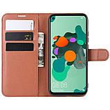 Чохол-книжка Litchie Wallet для Huawei Mate 30 Lite / Nova 5i Pro Brown (hub_tQsV10303), фото 5