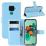Чехол-книжка Litchie Wallet для Huawei Mate 30 Lite / Nova 5i Pro Blue (hub_VOlt72288), фото 2