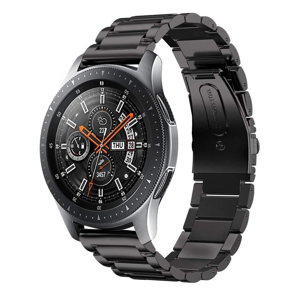 Ремешок BeWatch стальной 20 мм для Samsung Galaxy Watch 42 мм Черный (1110401)