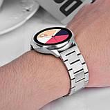 Сталевий ремінець BeWatch 20 мм для Samsung Galaxy Active Сріблястий (1110405), фото 6