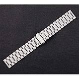 Сталевий ремінець BeWatch 20 мм для Samsung Galaxy Active Сріблястий (1110405), фото 7