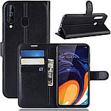Чохол-книжка Litchie Wallet для Samsung A606 Galaxy A60 Black (hub_fVhx72633), фото 2