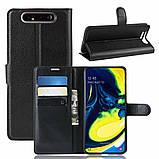 Чехол-книжка Litchie Wallet для Samsung Galaxy A80 / A90 Black (hub_zlJa24392), фото 2