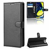 Чехол-книжка Litchie Wallet для Samsung Galaxy A80 / A90 Black (hub_zlJa24392), фото 3