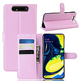 Чехол-книжка Litchie Wallet для Samsung Galaxy A80 / A90 Pink (hub_KdRH17510), фото 2