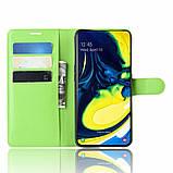Чехол-книжка Litchie Wallet для Samsung Galaxy A80 / A90 Green (hub_WZxS48780), фото 3