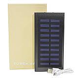 Power bank c сонячною панеллю для зарядки Cube 20000 mAh Black (258-10648), фото 6