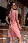 Женское платье, лён, р-р 42; 44; 46 (пудра), фото 2