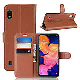 Чехол-книжка Litchie Wallet для Samsung A102 Galaxy A10e Brown (hub_NrHa10255), фото 2