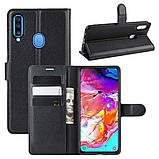 Чохол-книжка Litchie Wallet для Samsung A207 Galaxy A20s Black (hub_wjIH30154), фото 2