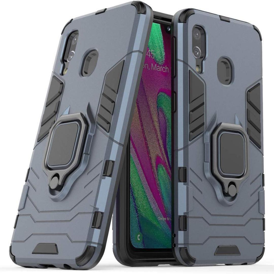 Чехол Ring Armor для Samsung M205 Galaxy M20 Синий (hub_lGjp44920)