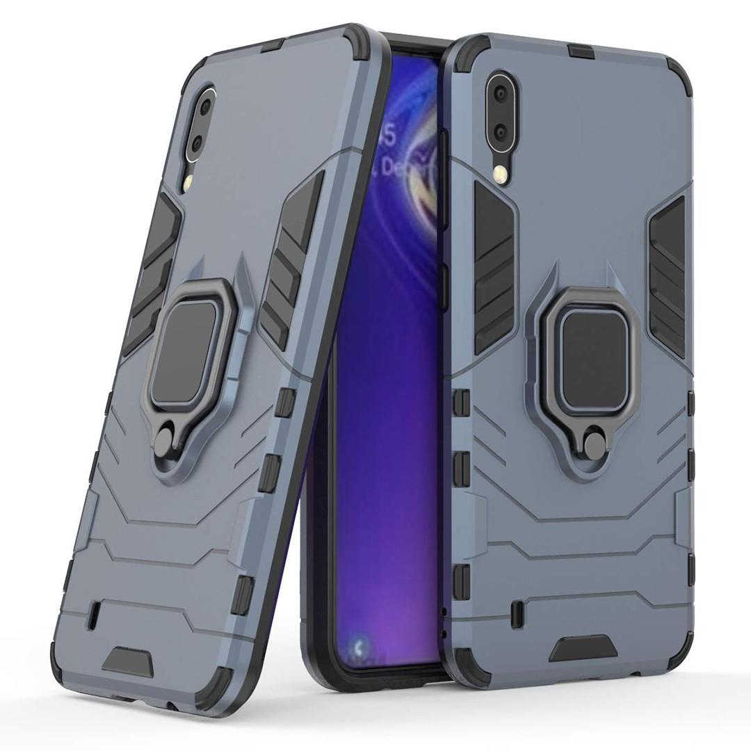 Чехол Ring Armor для Samsung M105 Galaxy M10 Синий (hub_qmwT95226)