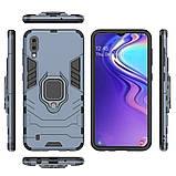 Чехол Ring Armor для Samsung M105 Galaxy M10 Синий (hub_qmwT95226), фото 4