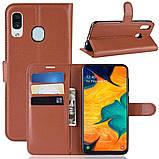 Чохол-книжка Litchie Wallet для Samsung A202 Galaxy A20e Brown (hub_lRUa54539), фото 2