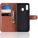 Чехол-книжка Litchie Wallet для Samsung A202 Galaxy A20e Brown (hub_lRUa54539), фото 5