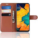 Чохол-книжка Litchie Wallet для Samsung A202 Galaxy A20e Brown (hub_lRUa54539), фото 6