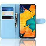 Чехол-книжка Litchie Wallet для Samsung A202 Galaxy A20e Blue (hub_uUHg55577), фото 3