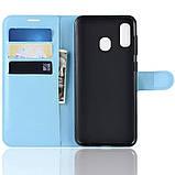 Чехол-книжка Litchie Wallet для Samsung A202 Galaxy A20e Blue (hub_uUHg55577), фото 4