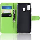 Чехол-книжка Litchie Wallet для Samsung A202 Galaxy A20e Green (hub_pYdB93890), фото 6