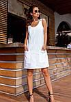 Жіноче плаття, льон, р-р 42; 44; 46 (білий), фото 2