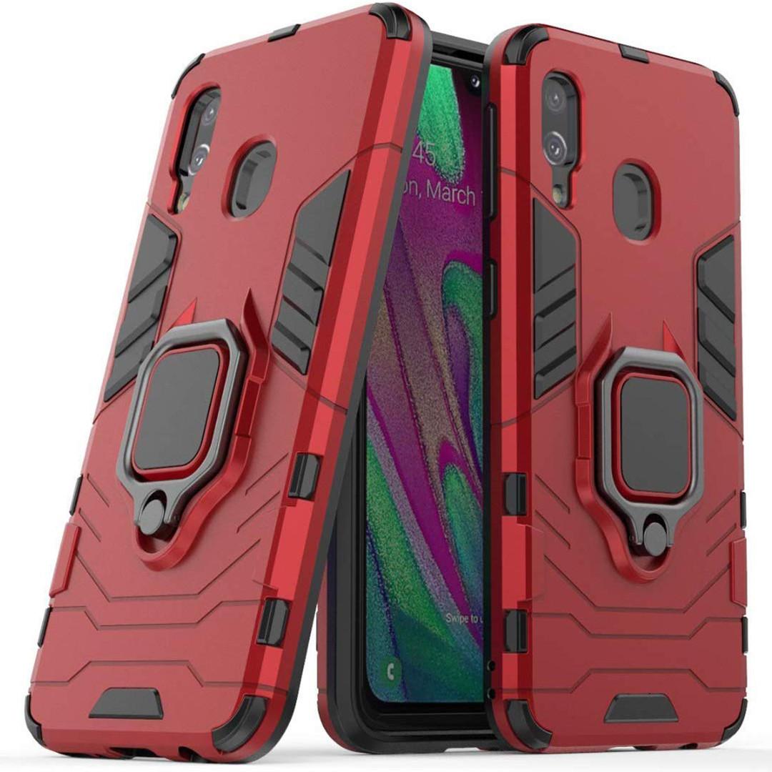 Чохол Ring Armor для Samsung M205 Galaxy M20 Червоний (hub_qGDs97027)