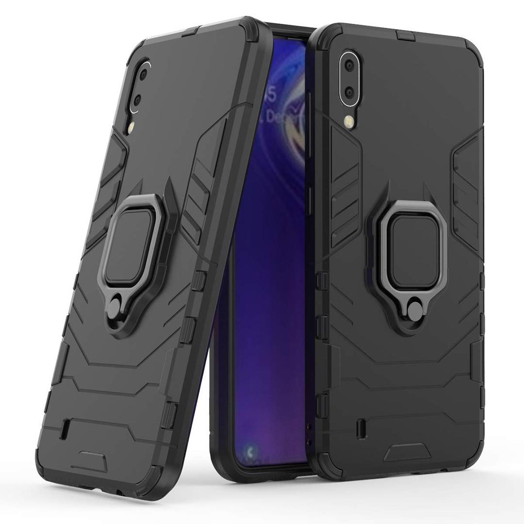 Чехол Ring Armor для Samsung M105 Galaxy M10 Черный (hub_OaIo90786)