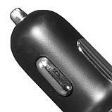 Універсальний автомобільний зарядний пристрій Yopin CC-023s USBx2 порти 2.4 A/1A Чорний (1293-2335), фото 7
