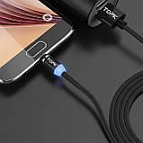 Магнітний кабель для зарядки Topk USB 1m 2.4 A 360° (TK17i-VER2) Llightning Black (3865-10844), фото 7