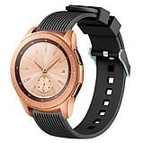 Ремешок BeWatch шириной 20 мм для Samsung Galaxy Active 2   Galaxy watch 3 41 мм Черный (1012101), фото 4
