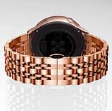 Браслет для Amazfit Stratos   Pace   GTR 47mm Ремешок 22мм Link стальной Розовое Золото (1022438), фото 4