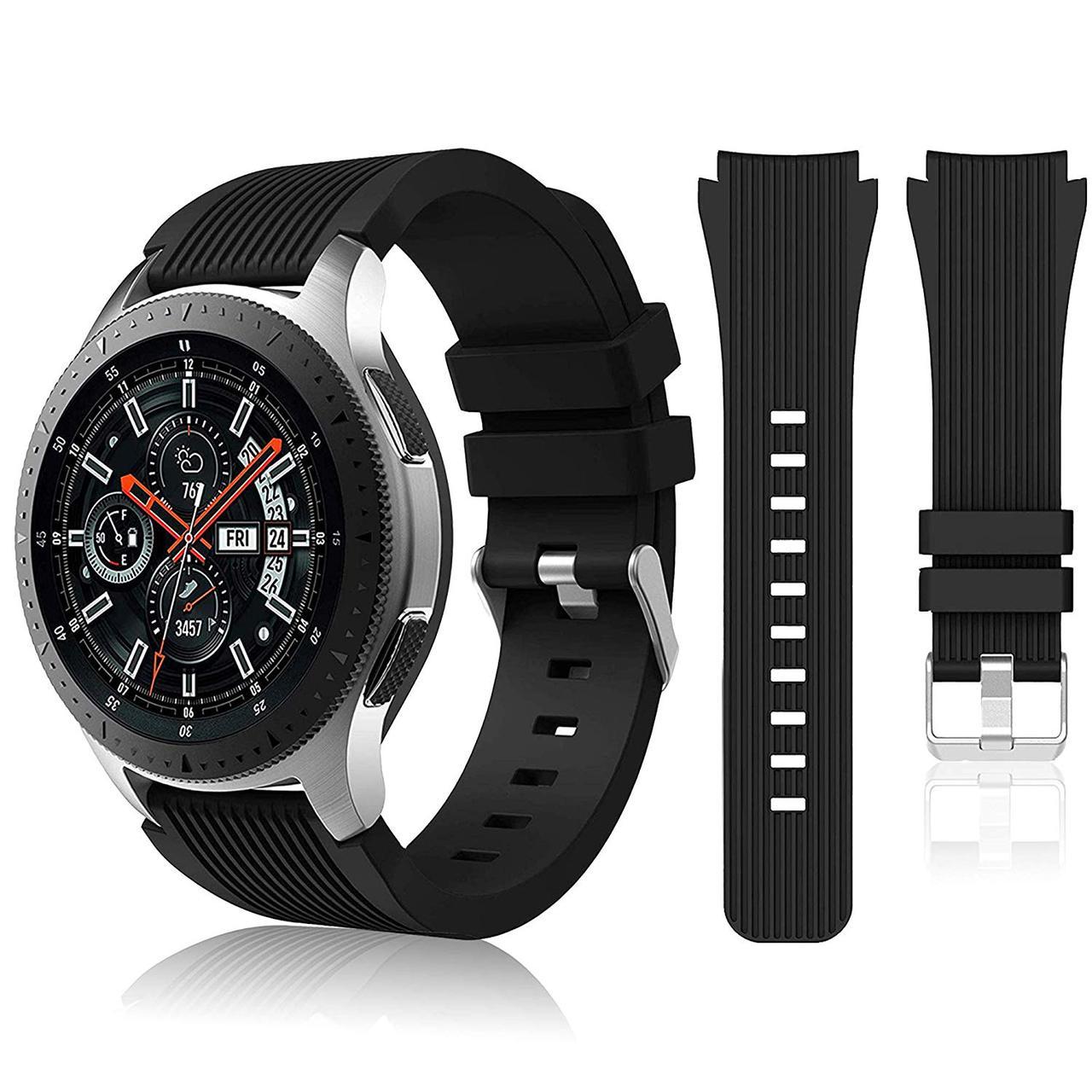 Ремінець BeWatch шириною 22 мм для Samsung Galaxy Watch 46mm \ Gear S3 Чорний (1022101)