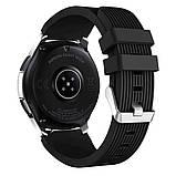 Ремінець BeWatch шириною 22 мм для Samsung Galaxy Watch 46mm \ Gear S3 Чорний (1022101), фото 2