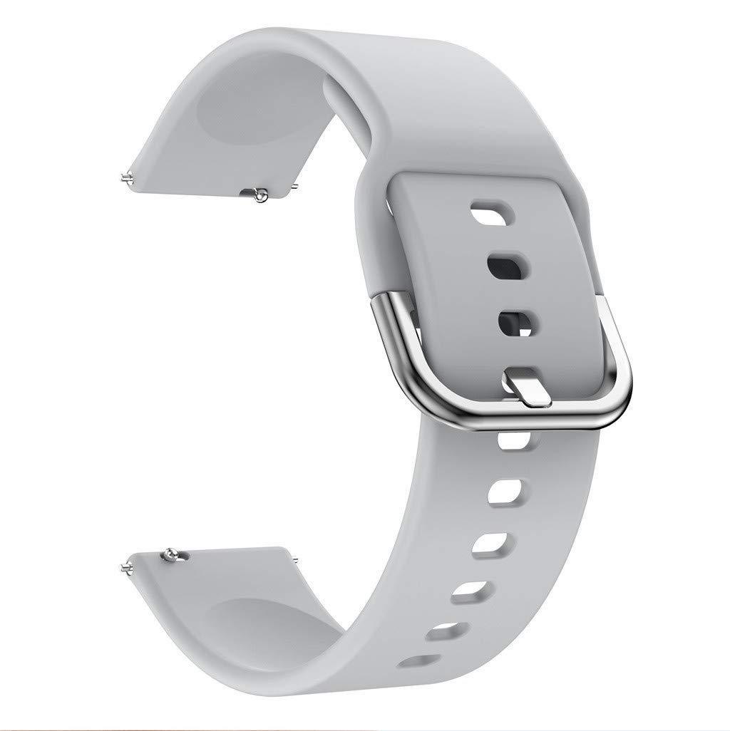Ремешок BeWatch New 20мм для Samsung Galaxy Watch 42мм \ Samsung Galaxy watch Active Серый (1012304)