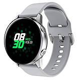 Ремешок BeWatch New 20мм для Samsung Galaxy Watch 42мм \ Samsung Galaxy watch Active Серый (1012304), фото 2