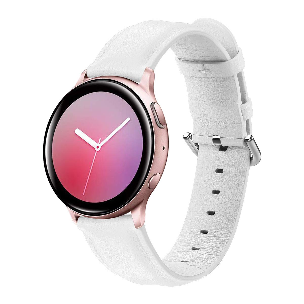 Ремешок BeWatch кожаный 20мм для Samsung Active | Active 2 | Galaxy watch 42mm Белый S (1220102.S)