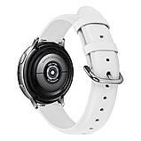 Ремешок BeWatch кожаный 20мм для Samsung Active | Active 2 | Galaxy watch 42mm Белый S (1220102.S), фото 2