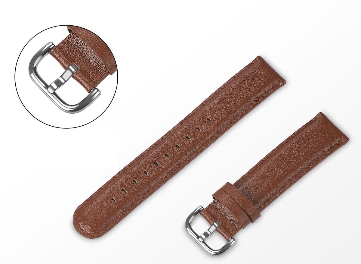 Ремінець BeWatch шкіряний 20мм для Amazfit BIP   Bip Lite   GTS   Gtr 42mm Коричневий L (1220104.1 L)